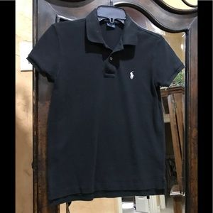 Ralph Lauren polo, black, size small!!🥰